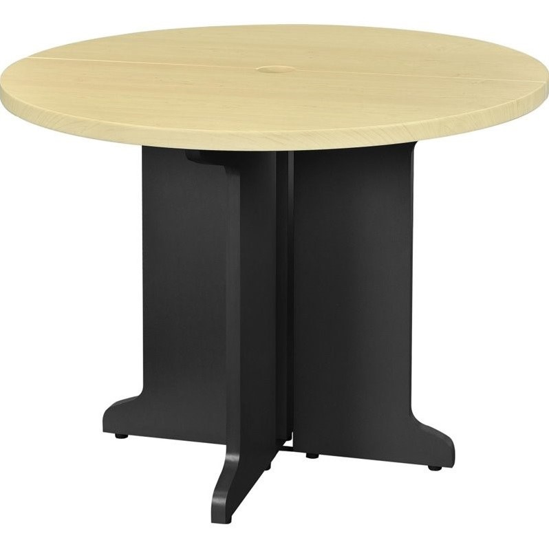 Round Table in Natural and Gray