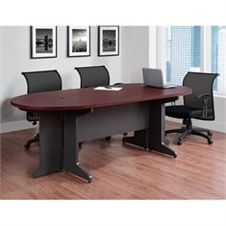 Small Conference Table in Cherry and Gray