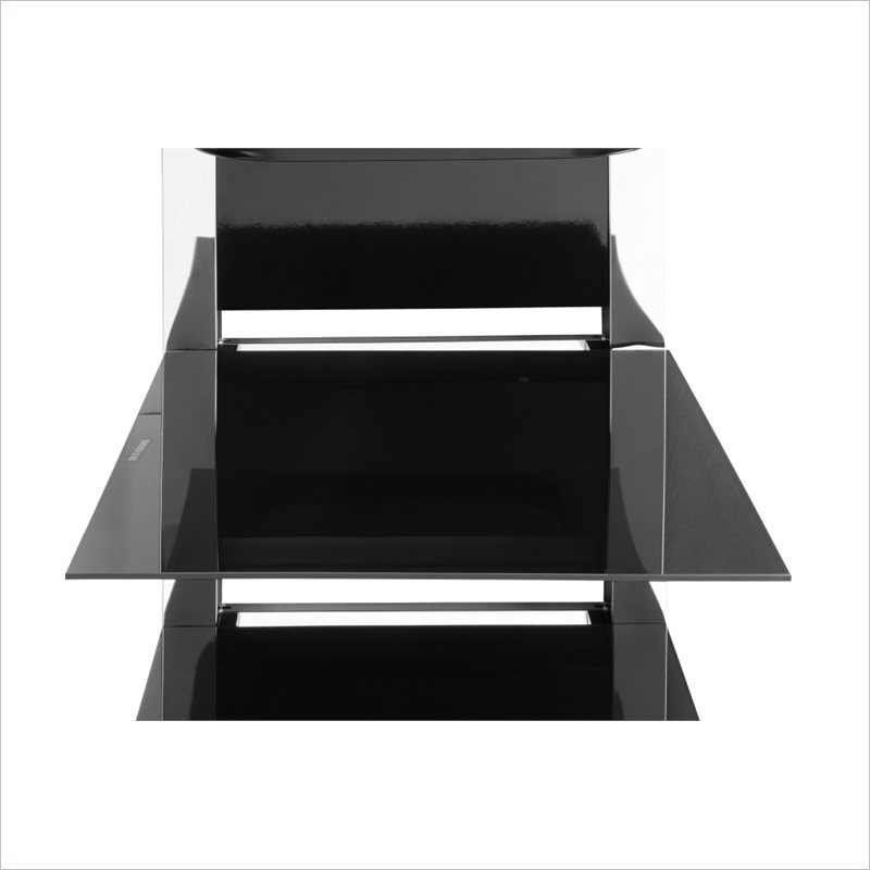 Modern Metal Tv Stand With Glass And Chrome 1713096