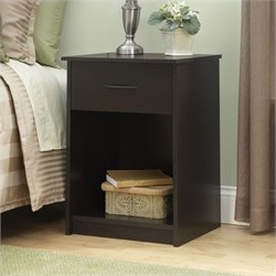 Ameriwood 1 Drawer Wood Nightstand in Cinnamon Cherry
