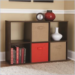 Ameriwood 6 Cube Wood Bookcase in Cherry