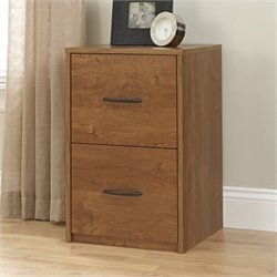 Ameriwood 2 Drawer Wood Vertical File Cabinet in Oak