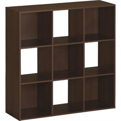 Ameriwood SystemBuild 9 Cube Storage Cubby Bookshelf in Resort Cherry