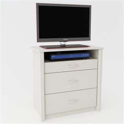 Ameriwood 3 Drawer Media Chest in White