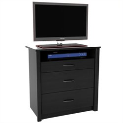 Ameriwood 3 Drawer Media Chest in Black