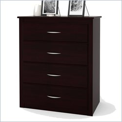 Ameriwood 4 Drawer Media Chest in Black Forest