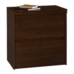 2 Drawer Wood Lateral File Cabinet in Cherry