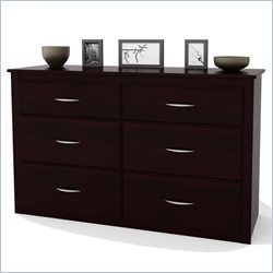 Ameriwood Six Drawer Dresser in Black Forest