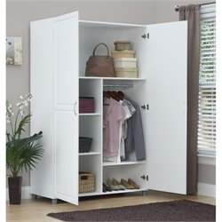 SystemBuild Kendall Wardrobe in White Aquaseal
