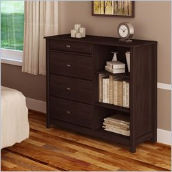Ameriwood Bachelor's Chest in Dark Russet Cherry