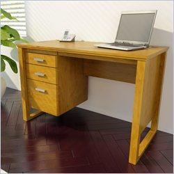 Ameriwood 1 File Drawer Home Office Desk in Bank Alder