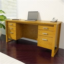 Ameriwood 2 File Drawer Home Office Desk Desk in Bank Alder