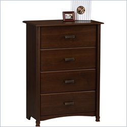 Ameriwood 4 Drawer Chest in Resort Cherry