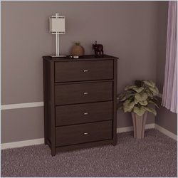 Ameriwood 4 Drawer Dresser in Dark Russet Cherry