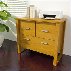 Ameriwood Modern Letter Size Lateral File in Bank Alder Finish