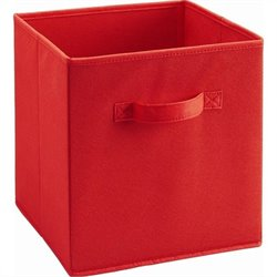 Ameriwood Fabric Storage Bin in Red