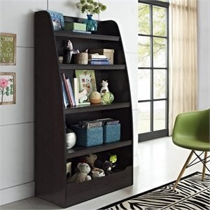 Kids 4-Shelf Bookcase in Espresso Finish