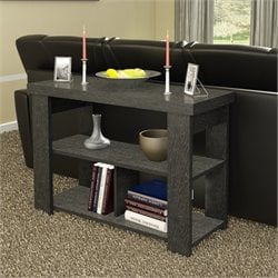 Ameriwood Hollow Core Sofa Table in Black Ebony Ash