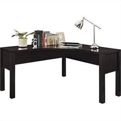 L Desk for Home Office in Espresso