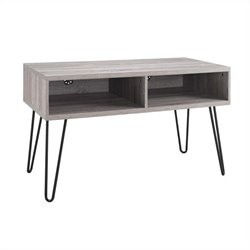 42 Inch TV Stand in Sonoma Oak and Gunmetal Gray
