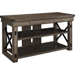 Rustic TV Console with Metal Frame