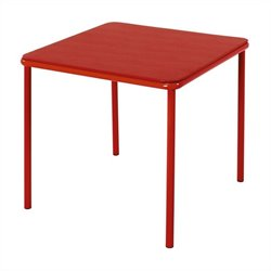 Cosco Square Kids Vinyl Table in Red