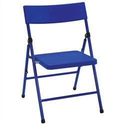 Kids Metal Folding Chair in Blue (Set of 4)