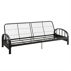 DHP Aiden Convertible Futon Sofa Frame in Black