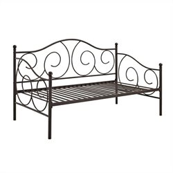 DHP Victoria Metal Daybed in Bronze - Twin