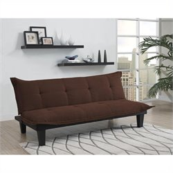 DHP Lodge Convertible Sofa in Brown