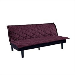 DHP Lancaster Convertible Sofa in Purple