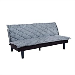 DHP Lancaster Futon in Grey and Black