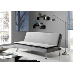 Maddox Convertible Sofa in Gray and Black