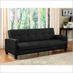 DHP Delaney Convertible Sofa in Black