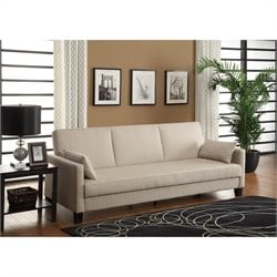 DHP Vienna Sofa Sleeper with 2 pillows in Tan Linen