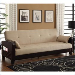 DHP Vienna Convertible Sofa in Chocolate Brown and Tan