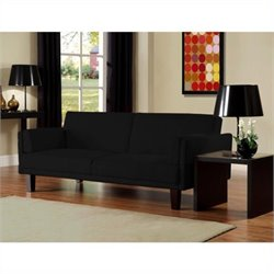 DHP Metro Microfiber Convertible Sofa in Black