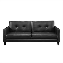 DHP Rome Futon Sofa in Black