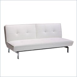 DHP Premium Belle Convertible Futon in White