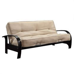 Ameriwood Premium Madruid Futon with Mattress in Brown