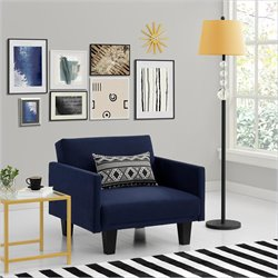 Ameriwood Metro Microfiber Arm Chair in Navy Blue