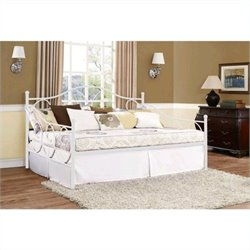 Ameriwood Victoria Full Size Metal Daybed in White