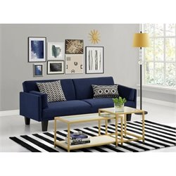 Ameriwood Metro Futon Sofa bed in Navy Blue