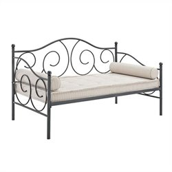 Ameriwood Victoria Full Size Metal Daybed in Pewter