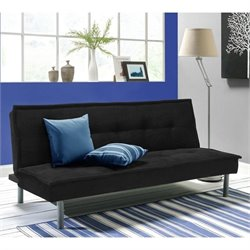 Ameriwood Kent Convertible Sofa in Black