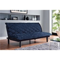 Lancaster Tufted Upholstered Fold Down Futon in Royal Blue