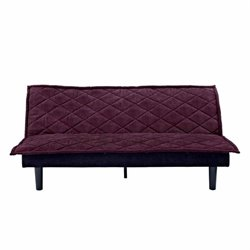 Convertible Futon Sofa in Purple and Black