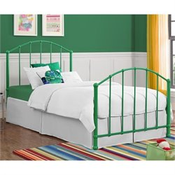 BrickMill Ivy Metal Twin Bed in Green
