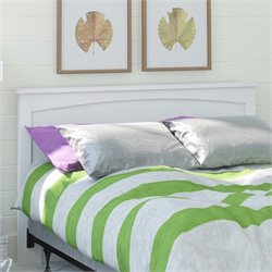 Altra Wood Full Queen Panel Headboard Finished in Federal White