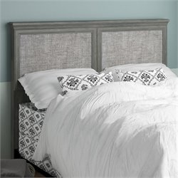 Fabric Upholstered Full Queen Headboard in Rodeo Oak